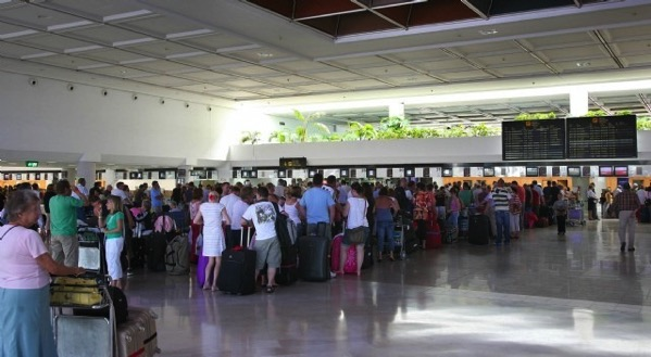 Lanzarote Airport Queue