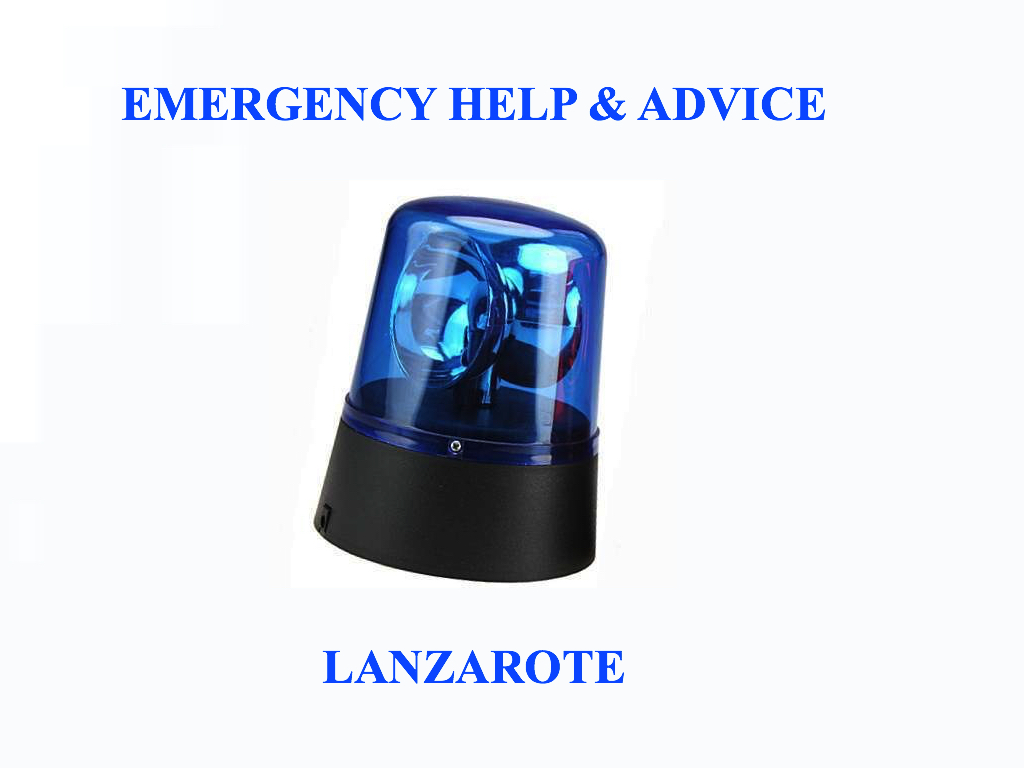 Emergency Help & Advice Lanzarote