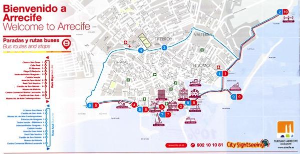 Arrecife Train Bus Map