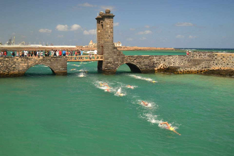 Open water swim races Lanzarote