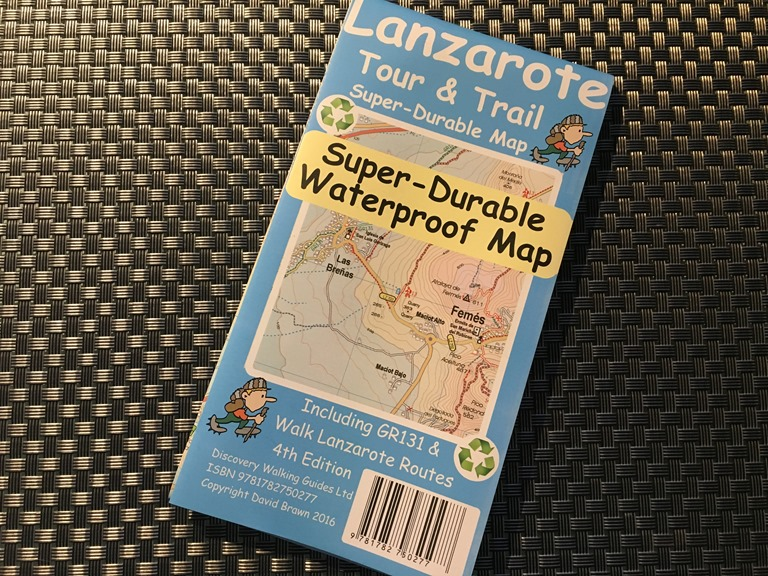 Lanzarote trail map